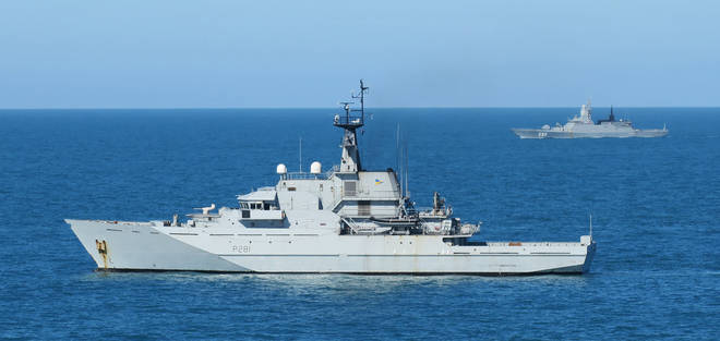 Four Royal Navy offshore patrol boats are on standby