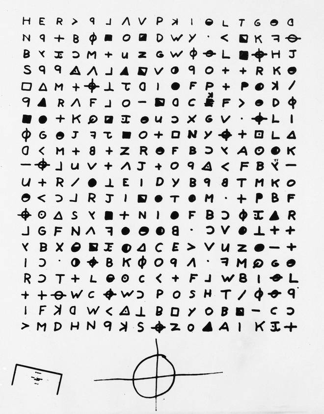 The cipher broken by the codebreaking team.