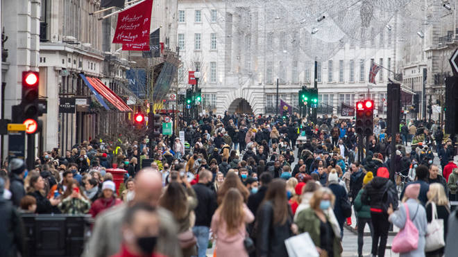 Regent Street was packed with shoppers yesterday