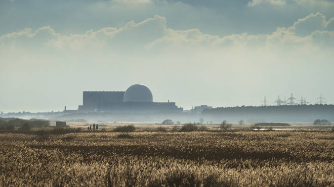 The Sizewell C site is adjacent to Sizewell B, pictured