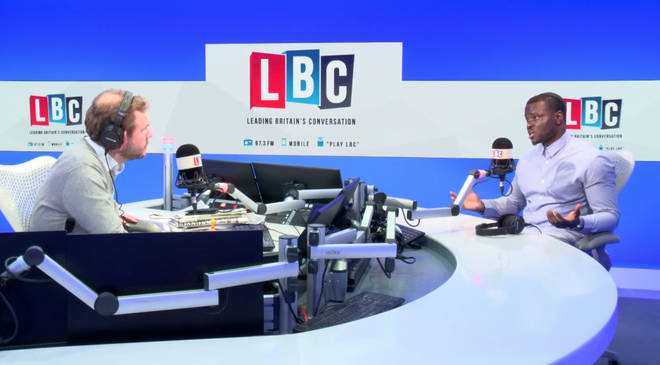 Hilary Ineomo-Marcus joined James O'Brien in the LBC studio on Monday
