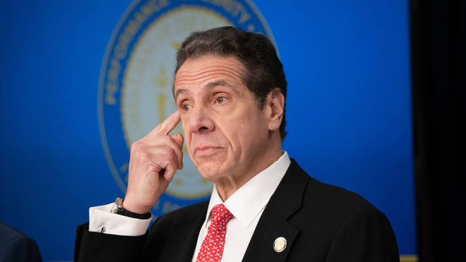 State Governor Andrew Cuomo watched the vaccination via video