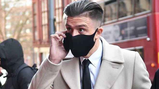 Jack Grealish arrives at Birmingham Magistrates' Court