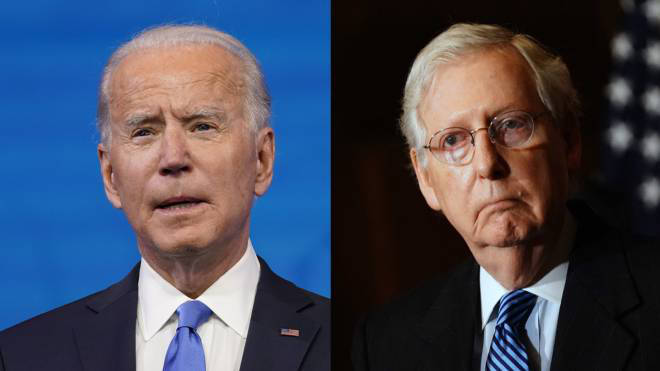 Joe Biden has received a congratulations from Senate leader Mitch McConnell