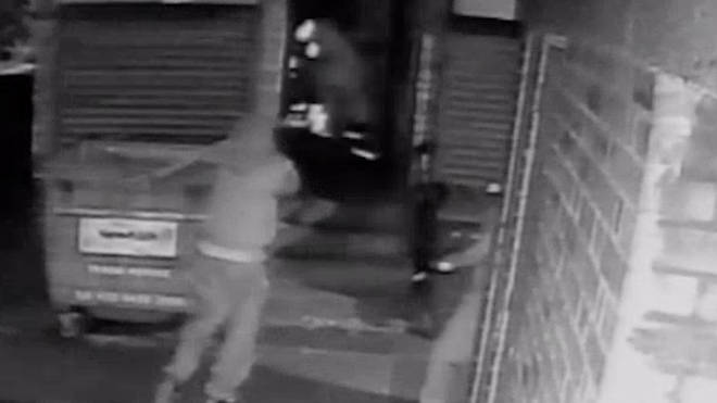 CCTV of the shooting in Plaistow