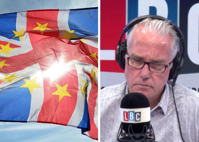 Brexit flag Eddie Mair