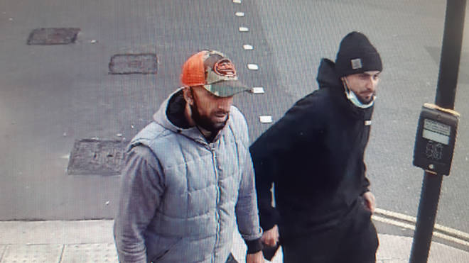 Police wish to identify these two men in connection with a brutal robbery
