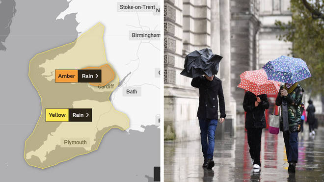 Parts of the UK are being told to brace themselves for torrential rain