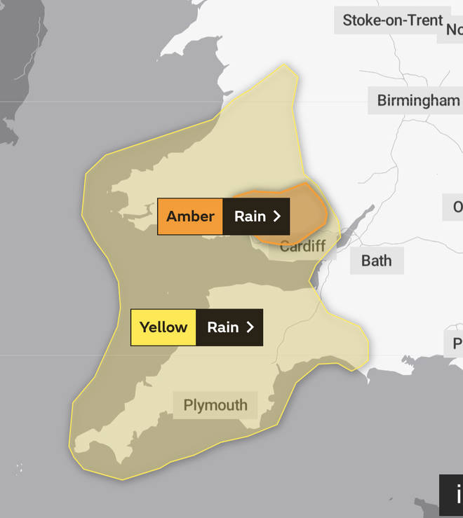 Yellow and Amber warnings are in place