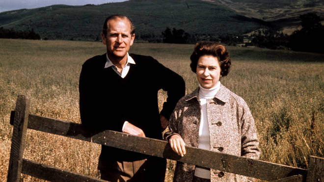 Queen Elizabeth II and the Duke of Edinburgh at Balmoral in 1972