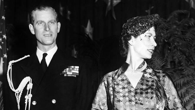 Then Princess Elizabeth and the Duke of Edinburgh at the Press Club Reception in Washington in 1951