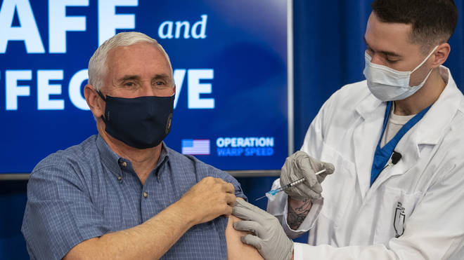 "Mike Pence said he ""didn't feel a thing"" when getting the coronavirus vaccine"