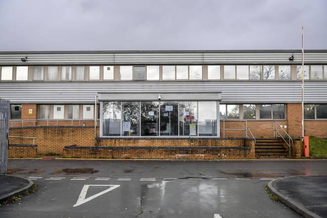 Ysbyty'r Seren field hospital on Bridgend Industrial Estate is taking patients.