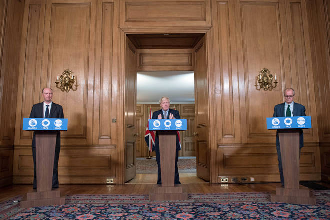Boris Johnson will lead Monday's Downing Street press conference.