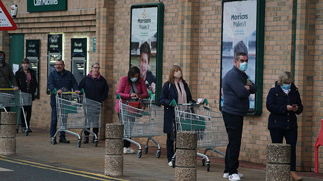 Supermarkets have introduced strict rules to prevent a panic buying