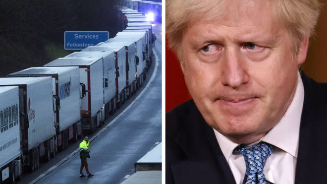 Boris Johnson said 174 lorries were stuck on the M20 when there were 900