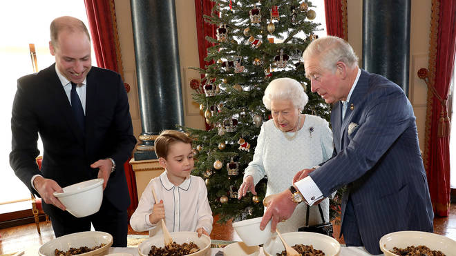 The Royals made pudding on behalf of the Royal British legion