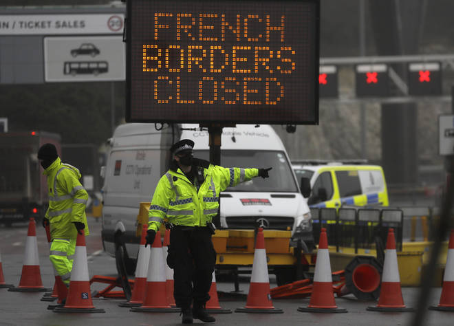 The Dover ferry terminal is closed after France closed their borders to UK travellers.