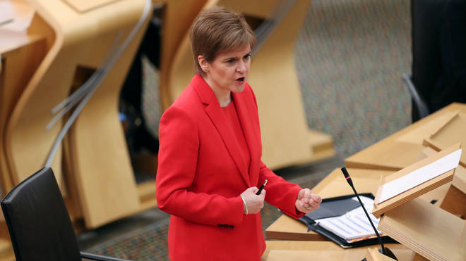 Nicola Sturgeon expressed concern over the new coronavirus variant