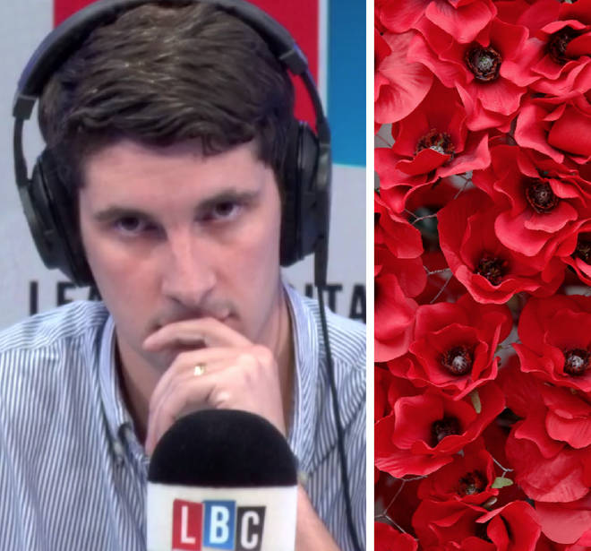 The guests clashed over Remembrance Day and wearing the poppy