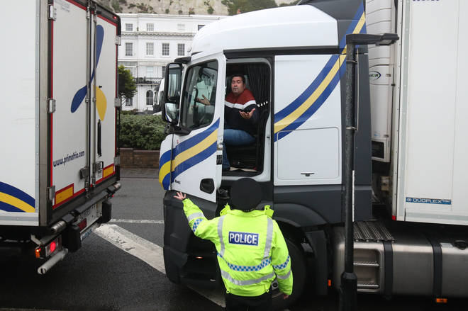 At least 1,500 lorry drivers are currently stuck in Kent.