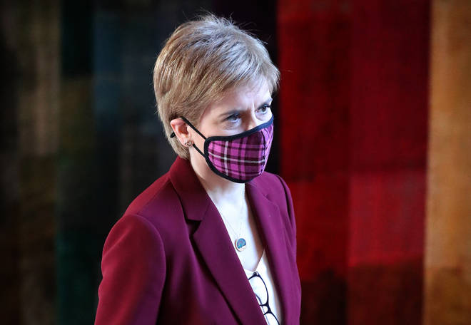 File photo: First Minister Nicola Sturgeon arrives to give an update on Covid restrictions in the Scottish Parliament