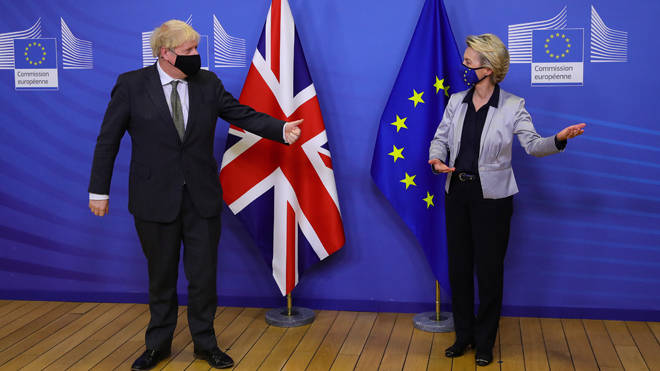 Boris Johnson and Ursula von der Leyen pictured together at their meeting in Brussels earlier this month