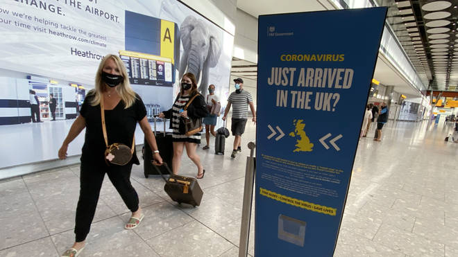 People travelling to the US from the UK must provide a negative Covid test