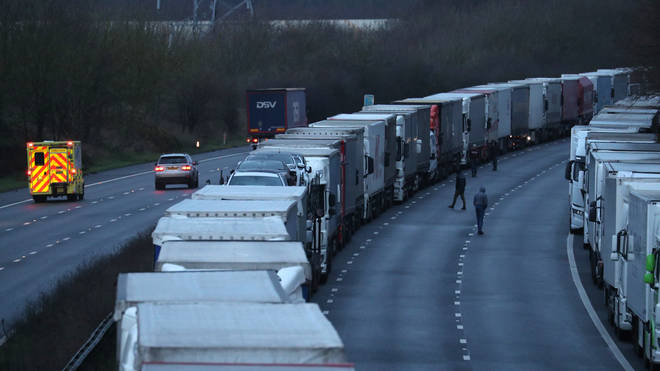 Disruption at the UK/France border has caused major disruption on Kent's roads
