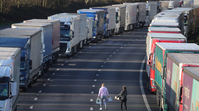 Transport Secretary Grant Shapps said that by 9am on Boxing Day all hauliers had left Manston airfield