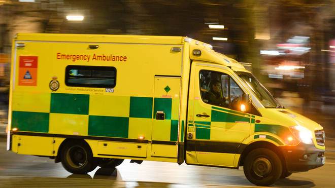 Emergency service workers had to seek sanctuary in their ambulance