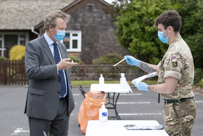 Mr Ellwood argued the army will greatly ease the burden on the NHS in assisting in testing at schools