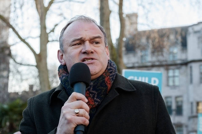 Sir Ed Davey revealed his party would not vote for the Brexit deal