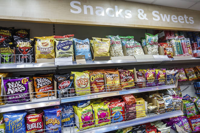 File photo: Snacks and sweets in a shop in London