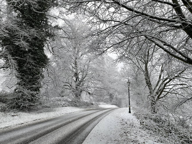 The Met Office has issued a yellow warning of snow and ice for much of England and Wales and parts of Scotland.