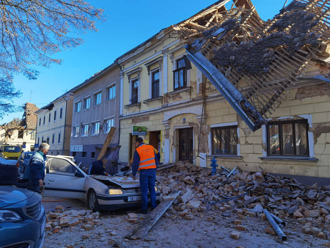 Petrinja, south east of Zagreb, has been hit hard by the second earthquake.
