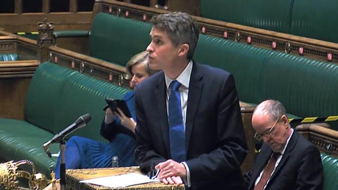 Gavin Williamson speaks in the House of Commons