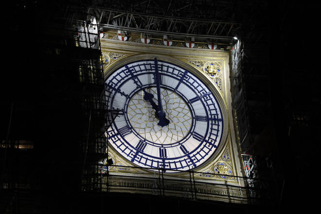 Big Ben rang out at 11pm to mark the UK leaving Europe