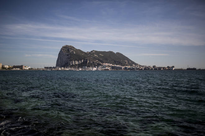 File photo: A view of Gibraltar from La Linea, Spain