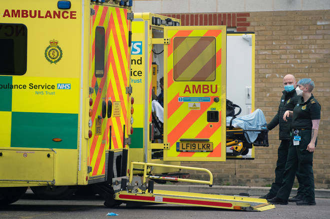 A patient arrives at Southend University hospital in Essex after hospitals in the county declared a major incident