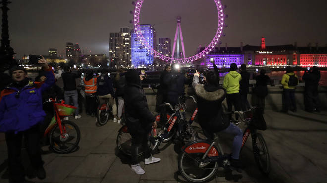 London would usually celebrate the new year with fireworks - but this time was cancelled
