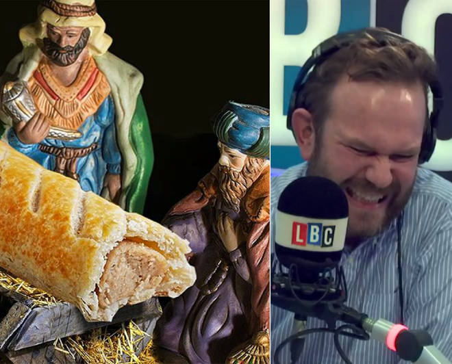 James O'Brien enjoyed his chat with Marion over the Greggs sausage roll nativity