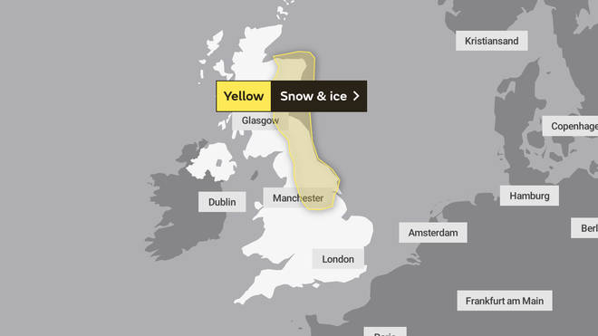 The frost is set to form under clear skies in the north west on Sunday morning as some wintry showers could see icy patches in other regions, the Met Office said