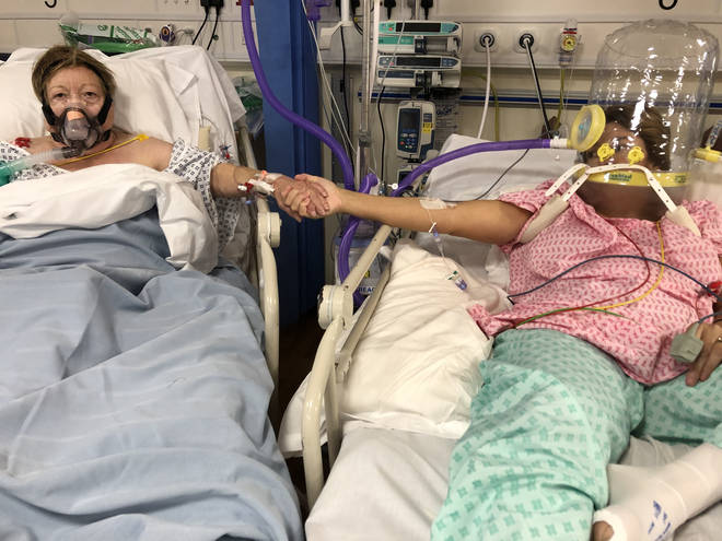 Anabel Sharma and her mother, Maria Rico, were brought together for a final time in the ICU.