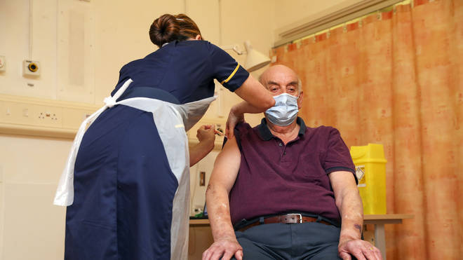 Brian Pinker, 82, became the first UK patient to receive the Oxford vaccine