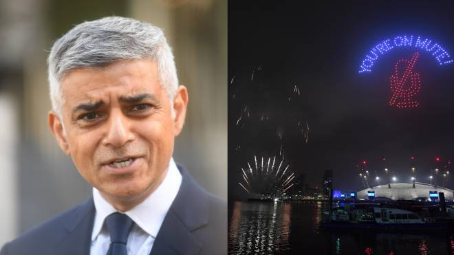 Sadiq Khan has been criticised for the New Year firework display in London