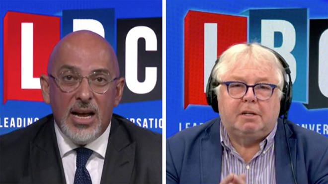 Nadhim Zahawi told LBC he thinks the vaccine target can be met