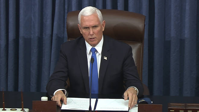 Vice President Mike Pence would take office if Trump were removed