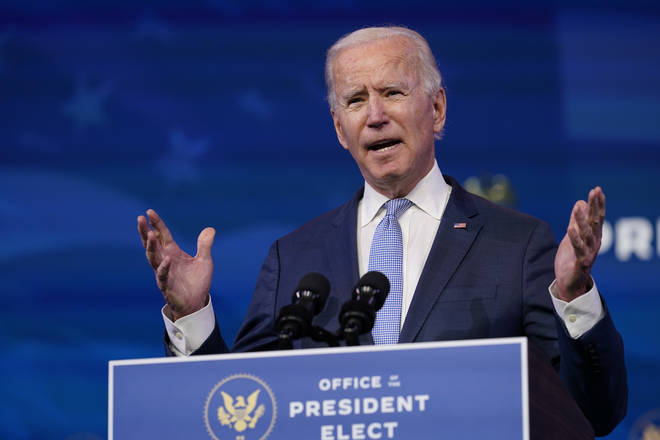Joe Biden urged Donald Trump to 'step up' and demand an end to the 'siege'