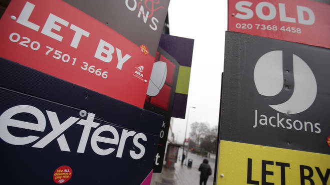 Letting agents' signs